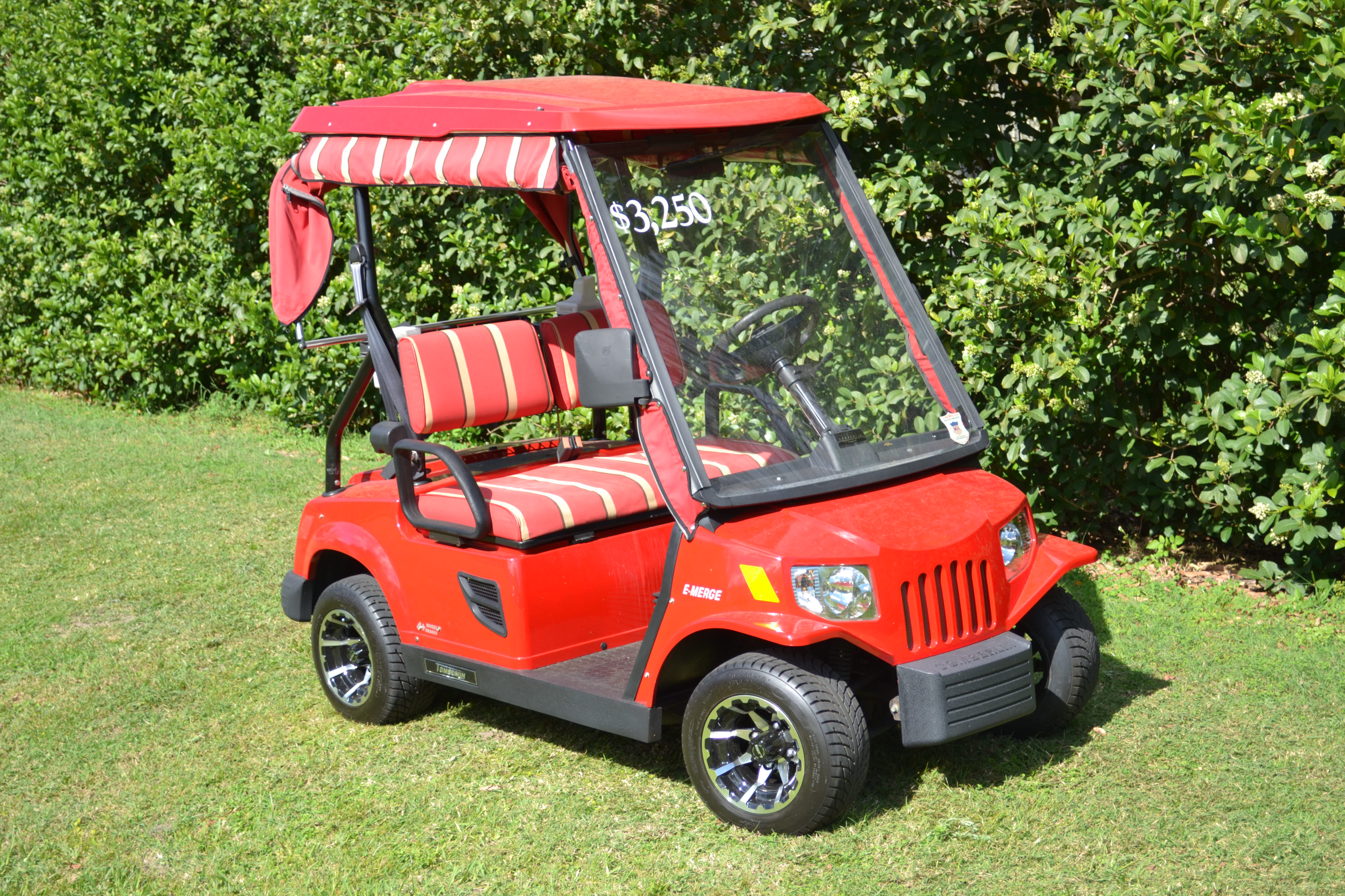 Tomberlin, $3,295.00; New Batteries; Automatic watering system; Custom Rims; New Special directional tread tires; On-board charger